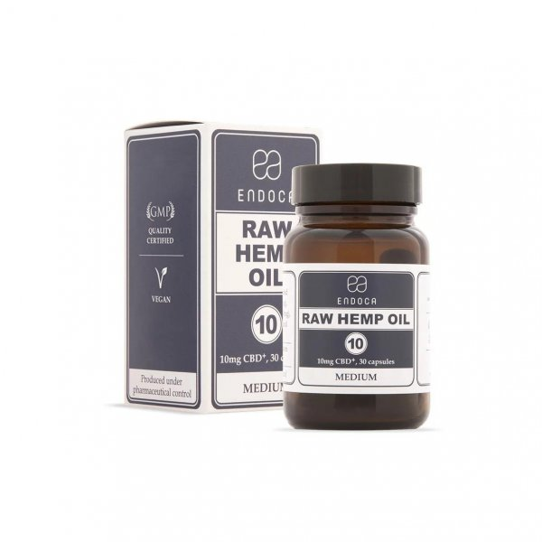Endoca RAW Hemp Oil 300mg – 30 capsules – Food Supplement