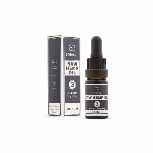 Endoca RAW Hemp Oil Drops 300mg – 10ml – Food Supplement