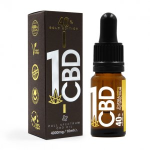 40% Gold Edition Pure Hemp CBD Oil 1ml
