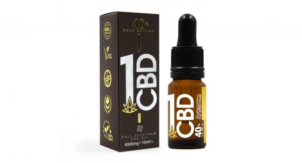 40% Gold Edition Pure Hemp CBD Oil 1ml