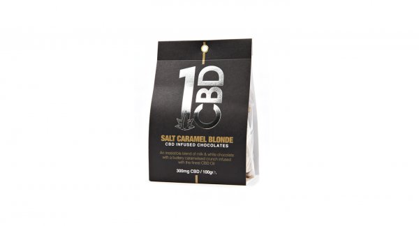 1CBD 300mg Chocolates Salt Caramel Blonde