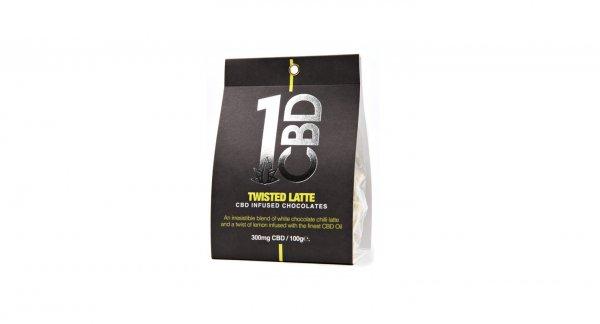 1CBD 300mg Chocolates Twisted Latte