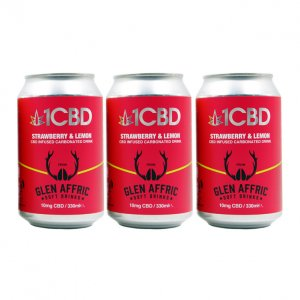 1CBD Carbonated Soft Drinks Strawberry & Lemon