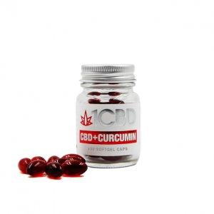 1CBD Curcumin + CBD Softgel Capsules X30