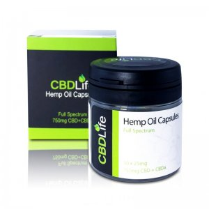 CBD Life Hemp Oil Capsules CBD+CBDa (750mg)