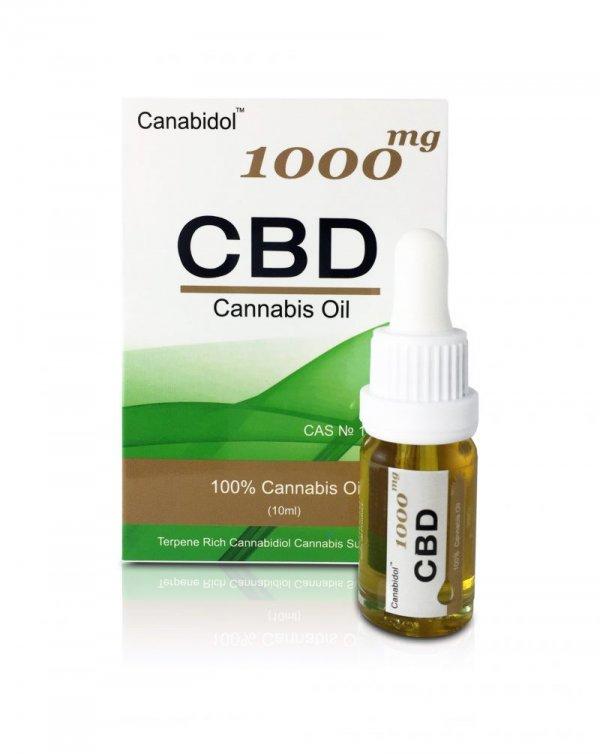 Canabidol CBD Oil Drops (250mg – 1000mg) (Strength: 1000mg)