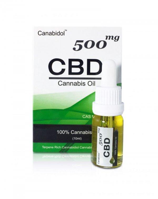 Canabidol CBD Oil Drops (250mg – 1000mg) (Strength: 500mg)