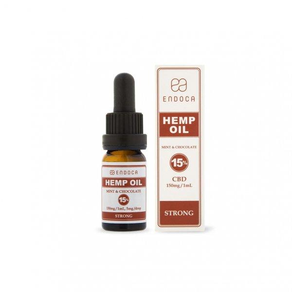 Endoca Hemp Oil Drops 1500mg (Mint & Chocolate) – 10ml – Food Supplement